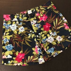 Floral graphic shorts